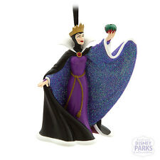 Authentic Disney Parks Evil Queen Glitter Dress Holiday Ornament Snow White