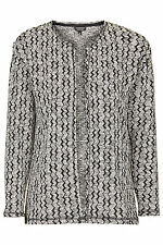 BNWT Topshop Monochrome Jacquard Throw On Cardigan, Size 6 RRP £34
