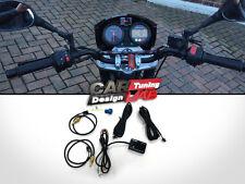 Digital Motorcycle MotoBike Volt OIl/Water temp Gauge Meter LED Waterproof 3in1