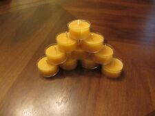 Tealight Candles in Bulk of 20: 100% Pure Beeswax