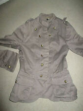 LADIES MILITARY STYLE JACKET H&M SIZE 34
