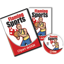 SPORT CLIPART-VINYL CUTTER PLOTTER VECTOR CLIP ART-SCREEN PRINTING IMAGES EPS CD