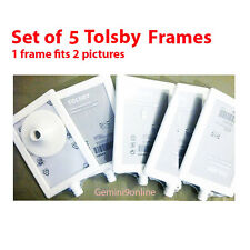 "IKEA 5 Photo Frames TOLSBY Frame Fits 2 Pictures White 4x6"" Parties Birthday"