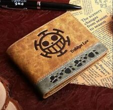 One Piece Anime Trafalgar Law Cosplay Folding Leather Wallet Purse Bag