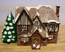 """DEPARTMENT 56 SNOW VILLAGE 5063-6 """"HIGHLAND"""" HOUSE w/Box 1987 - LIGHTED!!"""