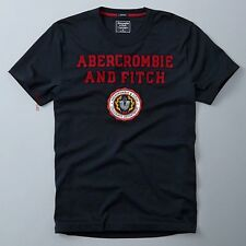 ABERCROMBIE & FITCH 【 SMALL 】 APPLIQUE LOG GRAPHIC TEE SHIRT 123-238-2069-200