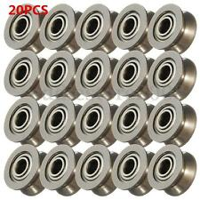20PC 624VV V Groove Sealed Ball Bearings Guide Pulley Vgroove 1.7mm 4 X 13 X 6mm