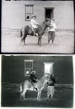 VINTAGE GLASS PLATE NEGATIVES. CHILDREN AT  TURN OF THE 19TH CENTURY. SET OF 5.