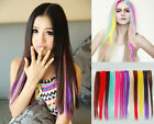 """New 20"""" One Clip In Remy Real Human Hair Extensions Straight Any Color 5g"""