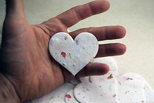 Large Pink Heart Shape Flower Seed Larkspur Paper Wedding Memorial Favors