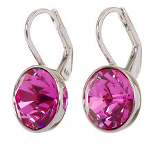Swarovski Elements Crystal Rose Bella Mini Pierced Earrings Rhodium 7174a
