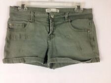 Mini Shorts Short Pants Women Size 6 Cottonon.com Green Jean Beach Cover Up