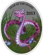 Niue 2013 1$ Lunar Calendar year of the Snake Chinese Love Silver Coin