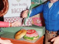 Rement Bagel Sandwich fits Fisher Price Loving Family Dollhouse Doll Play Food B