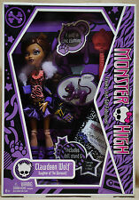 2009 Monster High CLAWDEEN WOLF Cresent  NRFB Original First Wave Casket Box