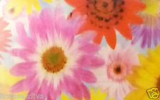 "LENTICULAR 3D RULER OR BOOKMARK! 1970'S FLOWERS! MAKES ONE DIZZY! 5"" RULER! NEW!"
