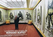 Coupure de presse Clipping 1999 Bernard Buffet  (4 pages)