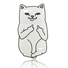 New Cute Funny Cartoon White Cat Soft Rubber Phone Cover Case for ZTE Blade S6