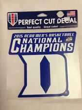 "DUKE BLUE DEVILS DIE CUT DECAL 8""x8"" 2015 NATIONAL CHAMPIONS"