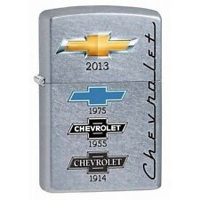 Zippo 28846 chevrolet logo's over the years street chrome full size Lighter
