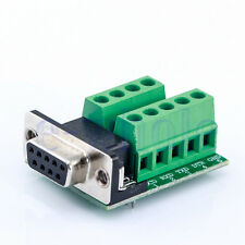 D-Sub DB-9 Pin Serial Com Port RS-232 Connector Female Adapter Breakout Board HM