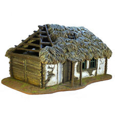 First Legion: TER001 Russian Village House with Thatched Roof (15.5Lx9.5Wx7.75H)