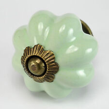 2 pc Green Ceramic Vintage Kitchen Cabinet Knobs Drawer Furniture Hardware K45
