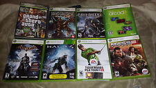 Lot of 8 Xbox 360 Games - GTA IV - Mass Effect 2 - Bioshock - Batman - Halo 4 -