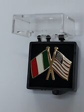 DISTINTIVO METALLO BANDIERA ITALIA USA SPILLA REPUBBLICA ITALIANA PINS REGALO