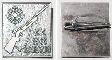 Broschen-Anstecknadel KK [Kleinkaliber] 1969 Goldrain / Schützen Abzeichen