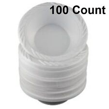 100 Cnt Disposable Bowls 12oz Party Plastic White Dinner Serving Plates Cutlery