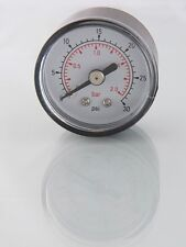 Air Pressure Gauge 1/8 bsp Rear Entry 40mm dial 0-30psi-2 bar Max           617x