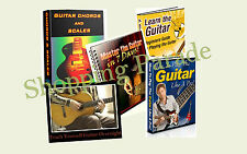 Learn How To Play The Guitar - 5 (five) Ebooks - Includes Chords Scales - PDF