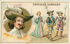 UNIFORMES MILITAIRES COSTUME FEMME SOUS LE ROI LOUIS XIII IMAGE CARD CHROMO