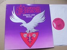 SAXON;STRONG ARM METAL lp m-/m- carrere records CAL212 made in england