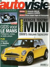 2001 AUTOVISIE MAGAZIN 12 BMW MINI BENTLEY SPEED 8 ALFA 156 HYUNDAI SONATA 2.7