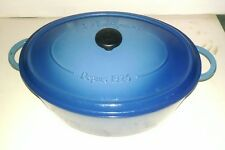FONTIGNAC 8QT Blue ENAMELED CAST IRON DUTCH French OVEN Made In France in BOX