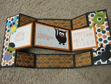Stampin Up Handmade Greeting Card Halloween Trick or Treat Owl Characters