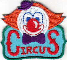"""CIRCUS"" CLOWN - ENTERTAINMENT - FUN - AMUSEMENT -  Iron On Embroidered Patch"