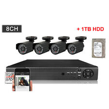 8CH HD 1080P DVR Surveillance CCTV Kit In/Outdoor Camera Security System + 1TB