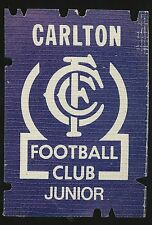 1981 Carlton Membership Premiership eason Junior Ticket Blues