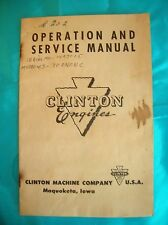 Vintage Manual,Operation and Service Manual- Clinton Engines