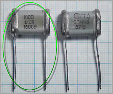 Silver MICA Capacitor SGM-3-G 1000pF 1nF 0.001uF 1600V 10% 1pc or more