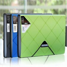 6 Pockets Accordion A4 Office Expanding File Folder Organizer Flap Cord #UK