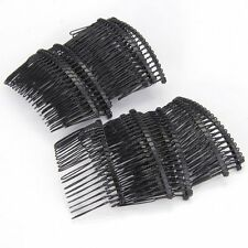 20 X metal Hair Comb plug Kushikami jewelry black mode T1