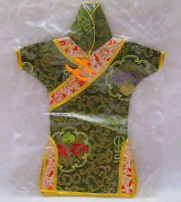Oriential  Japanese Geisha Doll Silk Kimono Dress New in Sealed Package Green