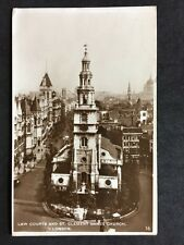RP Vintage Postcard - London #LA1 - Law Courts & St Clement Danes Church 1928