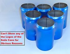 6 pack of Blue 12 oz,  Beer Soda Can Covers, Sleeve Wrap Camo Golf Beach Pool
