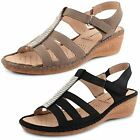 Womens Ladies Strappy Gladiator Platform Summer Wedge Heel Sandals Shoes Size