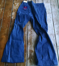 Vtg Usa Maverick wrangler disco bell bottoms denim jeans flare leg 38x32 pants